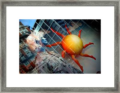 Chasing The Sun Framed Print by Jez C Self