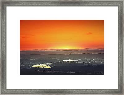 Chattanooga Sunrise Framed Print by Steven Llorca