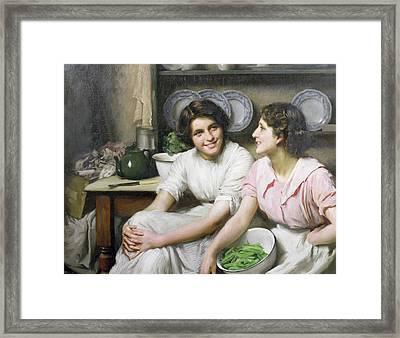 Chatterboxes Framed Print by Thomas Benjamin Kennington