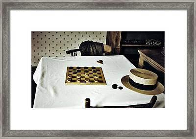 Check Mate Framed Print by JC Photography and Art