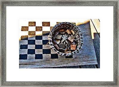 Checkers Framed Print by Elisia Cosentino
