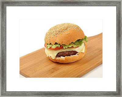 Cheeseburger  Framed Print by Paul Cowan