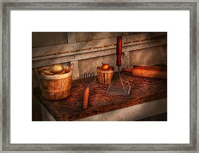 Chef - Food - Equipment For Making Latkes Framed Print by Mike Savad