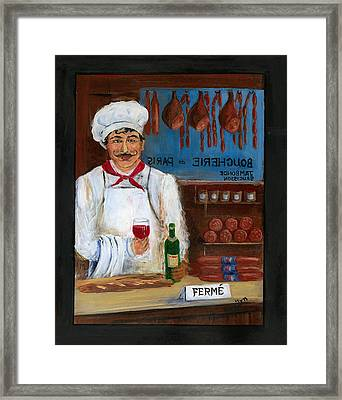 Chef At Days End Framed Print by Marilyn Dunlap