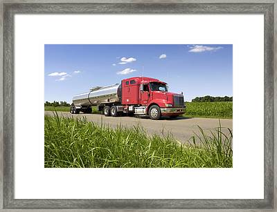 Chemical Tank Truck Framed Print by Lester Lefkowitz