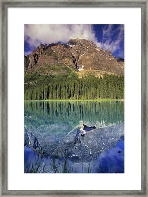 Chephren Lake And Mt. Chephren, Banff Framed Print by Darwin Wiggett