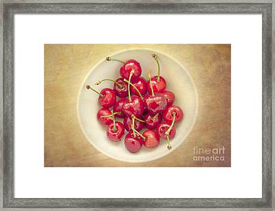 Cherries  Framed Print by Violet Gray