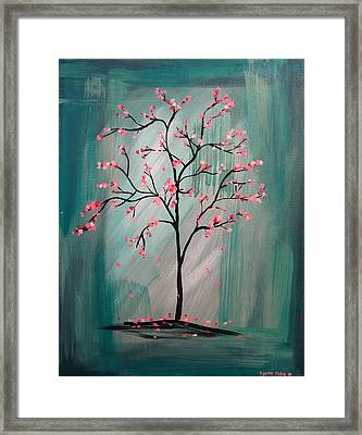 Cherry Blossom Framed Print by Lynsie Petig