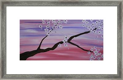 Cherry Blossoms At Sunrise Framed Print by Heather  Hubb