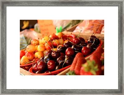 Cherry Me Framed Print by Renee Ballek