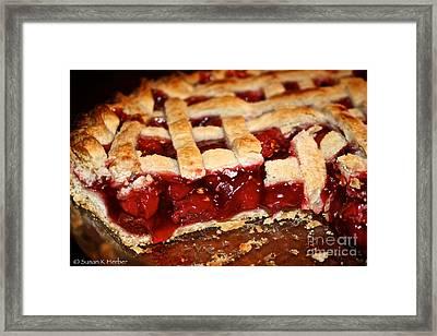 Cherry  Framed Print by Susan Herber