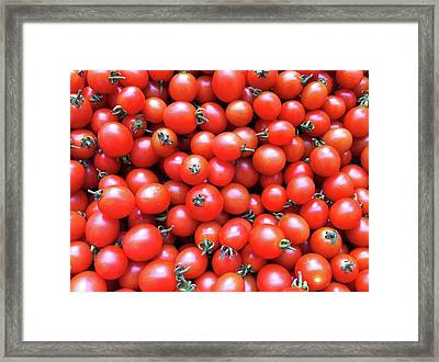Cherry Tomatoes Framed Print by Junku