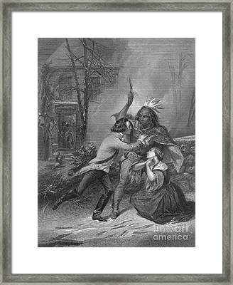 Cherry Valley Massacre, 1778 Framed Print by Photo Researchers