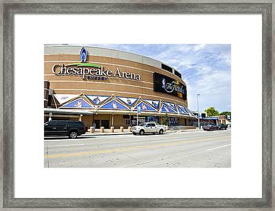Chesapeake Arena Framed Print by Malania Hammer