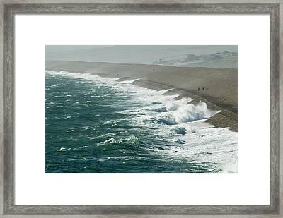 Chesil Beach, Dorset Framed Print by Adrian Bicker