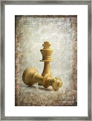 Chess Pieces Framed Print by Bernard Jaubert
