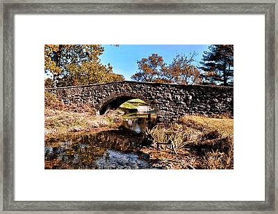 Chester County Bow Bridge Framed Print by Bill Cannon