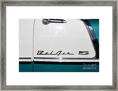 Chevrolet Bel-air . Blue . 7d12849 Framed Print by Wingsdomain Art and Photography