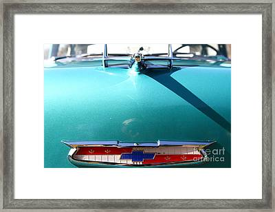 Chevrolet Bel-air . Blue . 7d12851 Framed Print by Wingsdomain Art and Photography