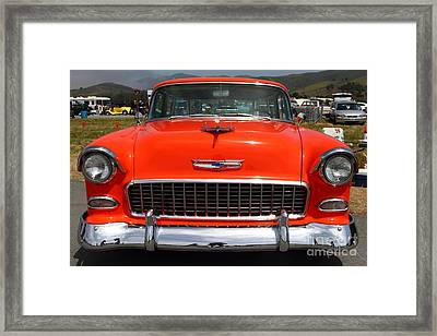 Chevrolet Bel-air Stationwagon . Orange . 7d15270 Framed Print by Wingsdomain Art and Photography
