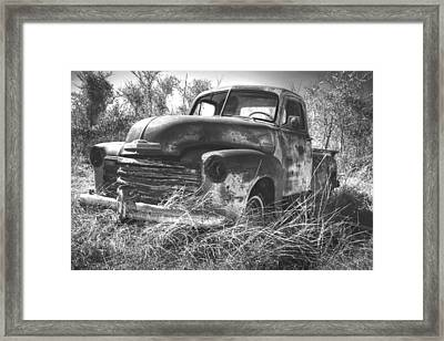 Chevy In A Field Framed Print by Paul Huchton