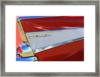 Chevy Lines Framed Print by Dorothy Menera