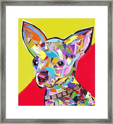 Chewy Framed Print by Julie Hiskett