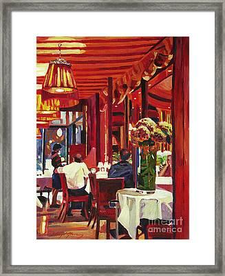 Chez Parisian Framed Print by David Lloyd Glover
