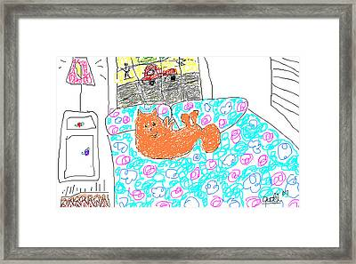 Chica Looking Out The Window Framed Print by Anita Dale Livaditis