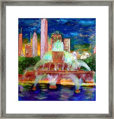 Chicacgo Buckingham Fountain Framed Print by Char Swift