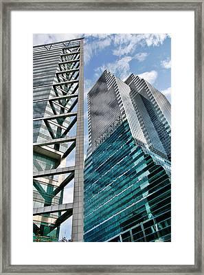 Chicago - A Sophisticated Finance Hub Framed Print by Christine Till