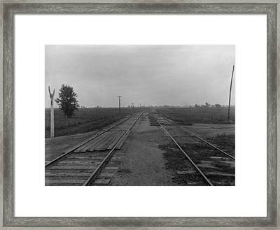 Chicago And Alton Railroad Crossing Framed Print by Everett