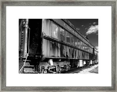 Chicago And Northwestern Train Framed Print by Marc Henderson
