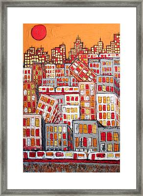 Chicago And The Pepperoni Sun Framed Print by Karl Haglund
