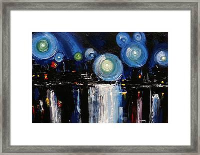 Chicago City Lights Framed Print by Skye Taylor