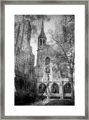 Chicago Fire Framed Print by Sonja Quintero