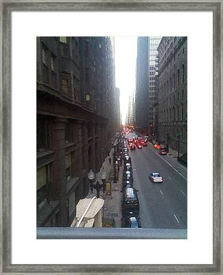 Chicago In Motion Framed Print by Jimi Bush