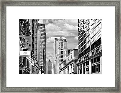 Chicago Lasalle Street Framed Print by Christine Till
