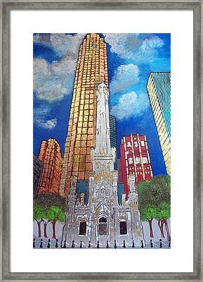 Chicago Old Water Tower Framed Print by Char Swift