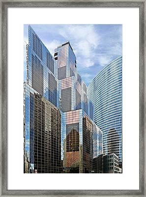 Chicago - One South Wacker And Hyatt Center Framed Print by Christine Till