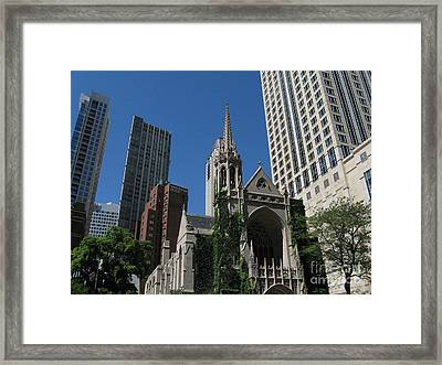 Chicago Skyline Framed Print by Arlene Carmel