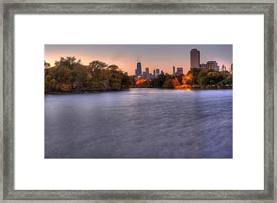 Chicago Skyline From Lincoln Park Framed Print by Twenty Two North Photography
