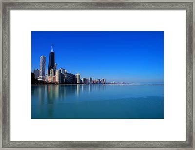 Chicago Skyline Framed Print by Paul Ge