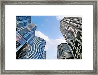 Chicago - Skyscrapers Are Looking Down On Us Framed Print by Christine Till