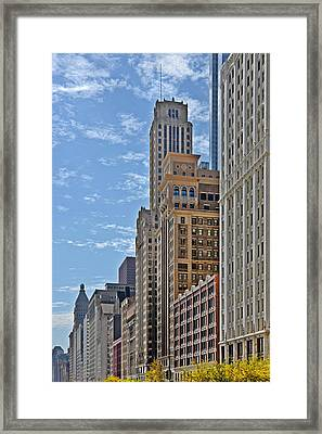 Chicago Willoughby Tower And 6 N Michigan Avenue Framed Print by Christine Till