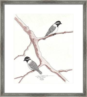 Chickadees Framed Print by William Deering