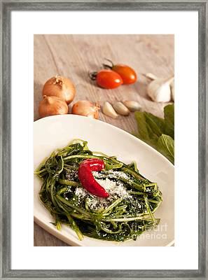 Chicory And Pecorino Framed Print by Sabino Parente