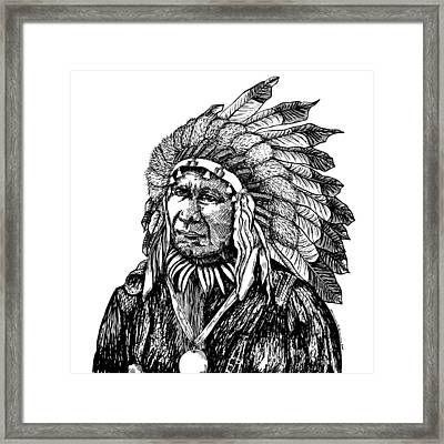 Chief American Horse Framed Print by Karl Addison