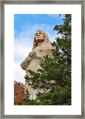 Chief Blackhawk Statue Framed Print by Bruce Bley
