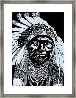 Chief Joseph Framed Print by Jim Ross